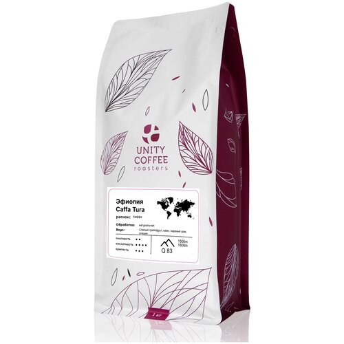Кофе в зернах Unity Coffee Эфиопия Caffa Tura, 1 кг