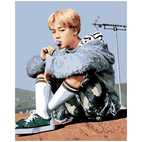 Купить Картина по номерам BTS Пак Чи Мин, 60 х 70 см, Красиво Красим, Картины по номерам и контурам