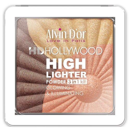 Купить Alvin D'or Хайлайтер Hd Hollywood Glow Illuminating 3 in 1 kit тон 03