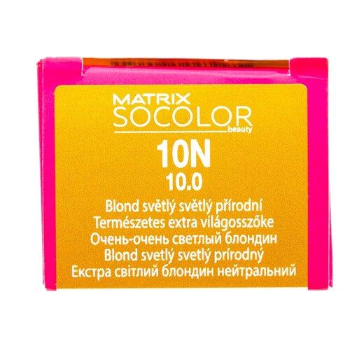 Купить Matrix Socolor Beauty стойкая крем-краска для волос, 10N очень-очень светлый блондин, 90 мл
