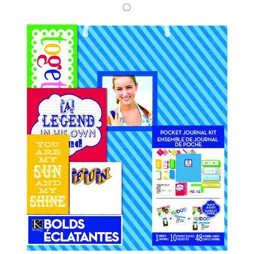 Купить Набор для создания альбома K&Company Голубые полосы (KCO-30-685628) 28х30, 5 см голубой, Бумага и наборы
