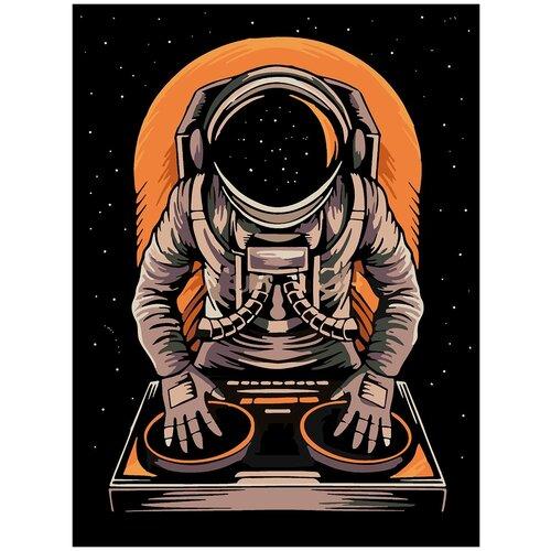 Купить Картина по номерам DJ Космонавт, 90 х 120 см, Красиво Красим, Картины по номерам и контурам