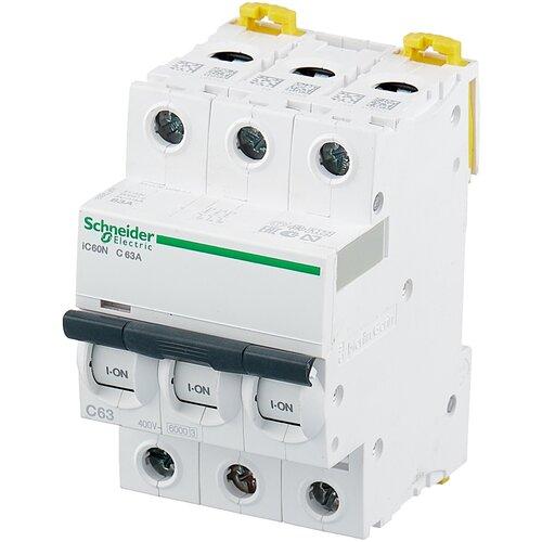 Фото - Автоматический выключатель Schneider Electric Acti 9 iC60N 3P (C) 6кА 63 А автоматический выключатель schneider electric acti 9 ic60n 3p c 6ка 50 а