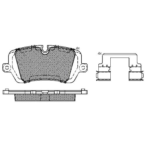 Дисковые тормозные колодки задние ICER 182120 для Land Rover Defender, Land Rover Discovery, Land Rover Range Rover, Land Rover Range Rover Sport (4 шт.) брызговики задние land rover vplwp0320 для land rover range rover sport 2018