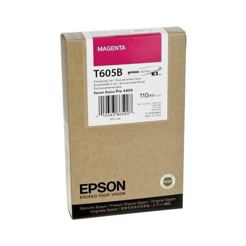 Фото - Картридж струйный Epson T605B C13T605B00 пурпурный оригинальный картридж струйный epson t605b c13t605b00 magenta
