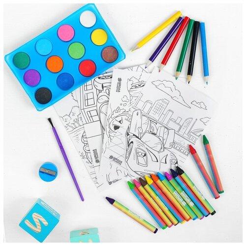 Набор для рисования Школа талантов Тачка , в пакете, Наборы для рисования  - купить со скидкой