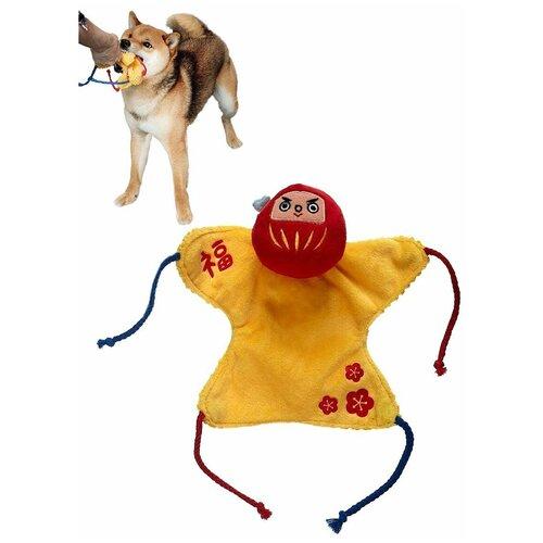Игрушка для собак Japan Premium Pet в виде талисмана Дарума, приносящего счастье с функцией ухода за зубами