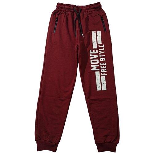 Спортивные брюки Папитто размер 146-152, бордовый брюки orby 100117 размер 146 152 черный