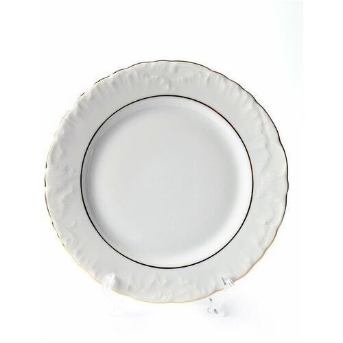 Тарелка плоская 25см. Cmielow Рококо две золотые полосы тарелка cmielow rococo плоская 25см фарфор 0031190 rococo