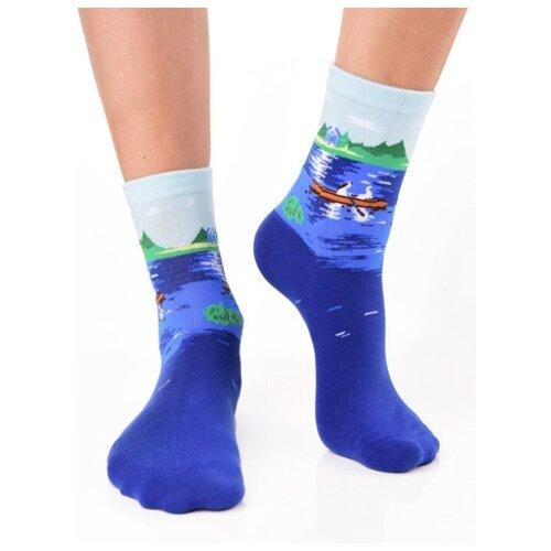 Носки унисекс, цветные прикольные носки/ Модные носки с рисунком/ Носки с принтом картина Ренуар