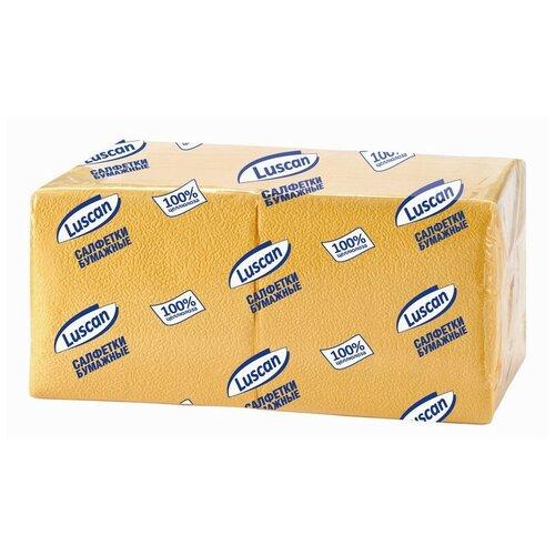 Купить Салфетки бумажные Luscan Profi Pack 1сл24х24 желтые 400шт/уп 2 шт.