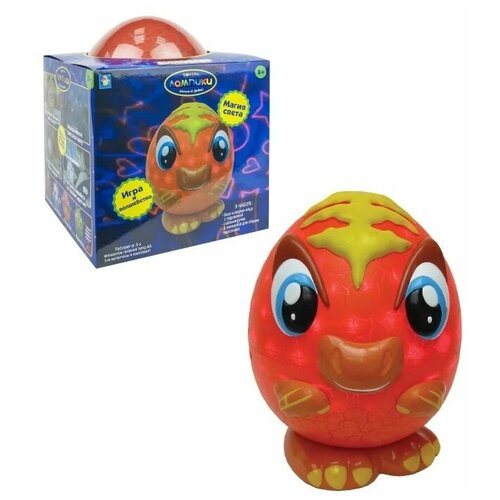 Фото - Динозавр, 1 Toy (конструктор, 8 элементов, Т 16358, серия Лампики) ночник 1 toy лампики попугай т16360 коробка