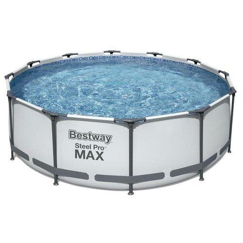 Bestway Бассейн каркасный Steel Pro MAX, 366 х 100 см, фильтр-насос, лестница, 56418 Bestway