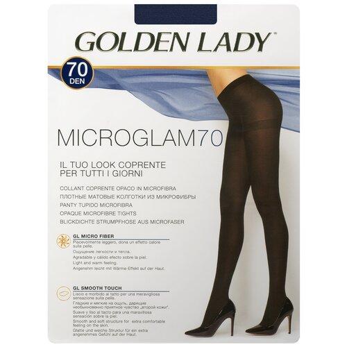 Колготки Golden Lady Microglam, 70 den, размер 3-M, blu tropicale (синий), 3 пары колготки golden lady microglam 70 den размер 3 m nero черный