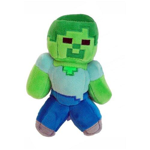 Детская мягкая игрушка ВсеИгрушки / Плюшевый Зомби (Zombie) из игры Майнкрафт (Minecraft) для детей, мальчиков и девочек, 15 см