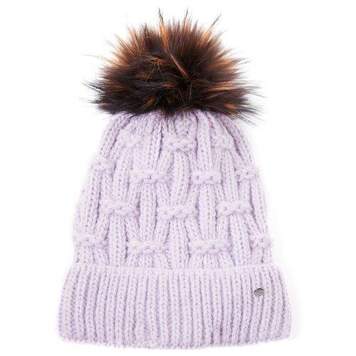 шапка женская finn flare цвет ярко синий a20 11148 111 размер 56 Шапка женская Finn Flare, цвет: сиреневый A20-12148_828, размер: 56