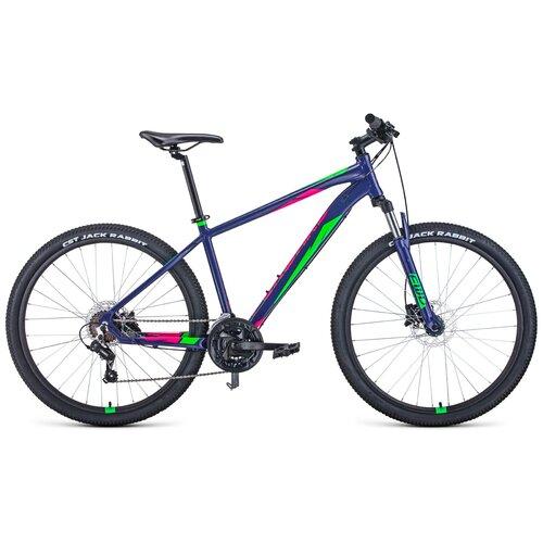 Горный (MTB) велосипед Forward Apache 3.0 Disc 27.5 (2020) 17 фиолетовый/зеленый (требует финальной сборки) горный mtb велосипед forward apache 27 5 1 2 s 2021 желтый зеленый 19 требует финальной сборки