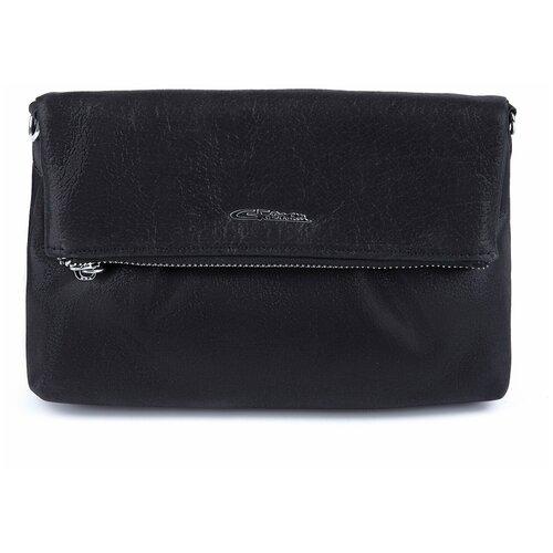 Эффектная женская сумка черная 2020738A K102 nero Giorgio Ferretti на плечо/Италия, 100% натуральная кожа