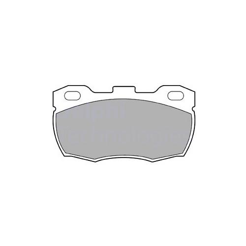 DELPHI LP506 (RTC5574 / SFP000140 / SFP000260) комплект тормозных колодок, дисковый тормоз