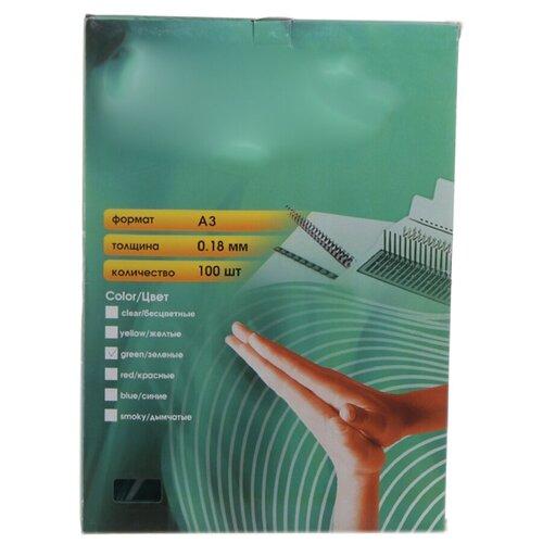 Фото - Обложки для переплета Office Kit А3 100шт Green PGA300180 обложки для переплета office kit а3 100шт green pga300180