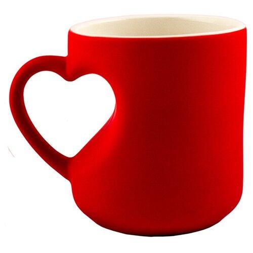 Фото - Кружка Эврика кружка-хамелеон Сердце Red 95339 кружка эврика звездочка 230ml 99597