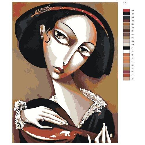 Картина по номерам «Кубизм играющей женщины» 60х80 см (T387)