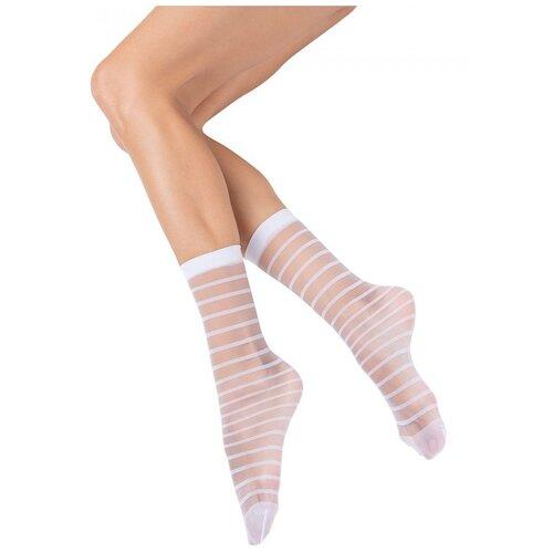 Капроновые носки MiNiMi Folletto, размер 0 (one size), bianco