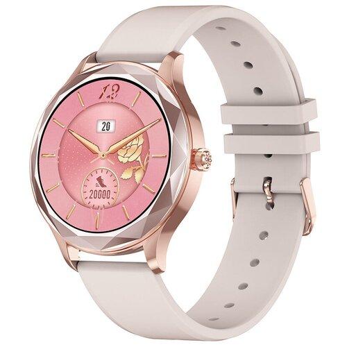 Часы Smart Watch DT86 GARSline золотистые (ремешок розовый силикон)