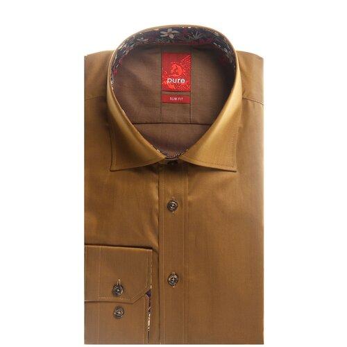 Рубашка pure размер L светло-коричневый