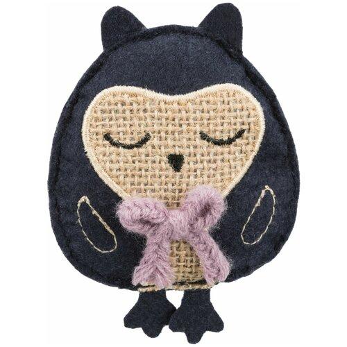 Игрушка Филин, ткань, с кошачьей мятой, 11 см, Trixie (игрушка для кошек, 45536) trixie trixie набор мышек для кошек 5 см с мятой 6 шт