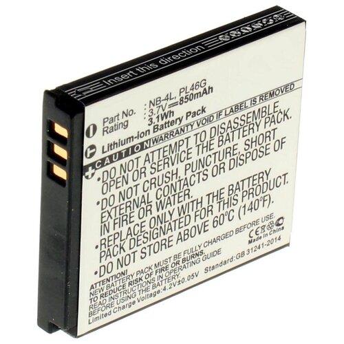 Аккумулятор iBatt iB-B1-F122 850mAh для Canon NB-4L, digicare plc 4l nb 4l