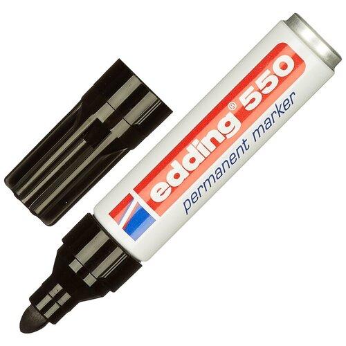 Фото - Маркер перманентный edding черный, 3-4 мм, круглый наконечник (E-550/1) маркер перманентный edding зеленый 3 4 мм круглый наконечник