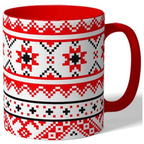 Кружка с рисунком Вышиванка украинская