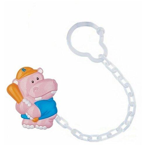 Купить Клипса-держатель для пустышек Canpol babies Animals, рисунок: Бегемотик (250930400), Пустышки и аксессуары