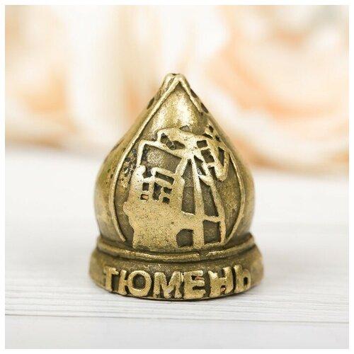Наперсток сувенирный «Тюмень» латунь, 2,6 х 3,4 см 3939302