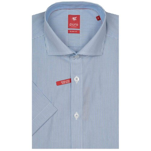 Рубашка pure размер XL белый/голубой