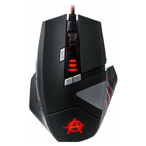 Мышь Oklick 755G HAZARD Черный, серебристый, рисунок оптическая (3000dpi) USB игровая (7but)