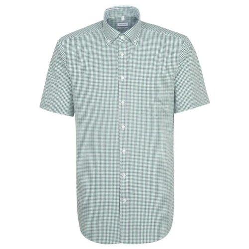 Рубашка Seidensticker размер 41 белый/зеленый