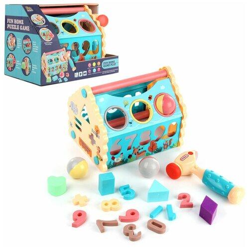 Купить Развивающая игрушка Veld co 103583 Сортер-домик с молоточком, свет/звук, Развивающие игрушки
