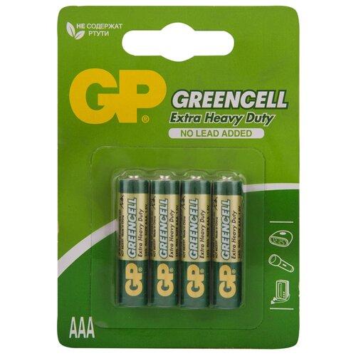 Фото - Батарейка GP Green Cell AAA/R03, 4 шт. батарейка фаza aaa r03 heavy duty 4 шт