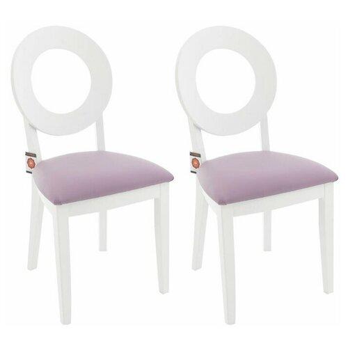 Комплект стульев Аврора Коломбо Эмаль белая, нитро пурпл 2 шт