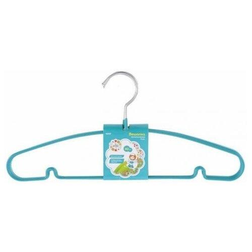 Elfe Вешалка для легкой одежды с прорезиненным противоскользящим покрытием 40 см, 5шт. в комплекте// Elfe вешалка valiant двухуровневая с противоскользящим покрытием 181001 черный