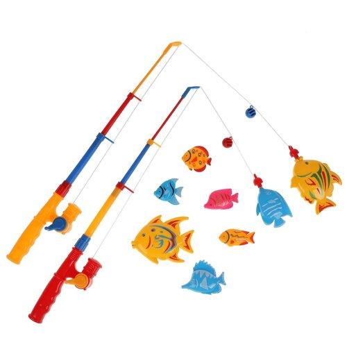 Рыбалка Играем вместе Три кота 1303V066-R желтый/красный/голубой игрушки для ванны играем вместе игра рыбалка три кота k095 h19006 r