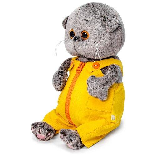 Мягкая игрушка Basic&Co Басик baby в вельветовом комбинезоне 20 см