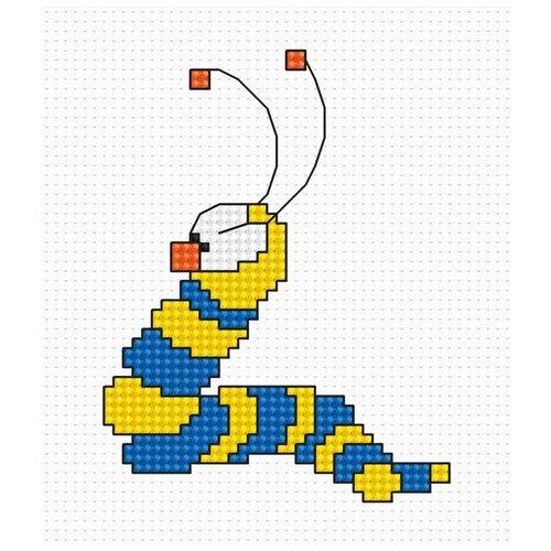 Фото - Набор для вышивания Червячок, Luca-S 6,5 x 8,5 см ( B079 ) набор для вышивания улитка luca s 9 5 x 5 см b005