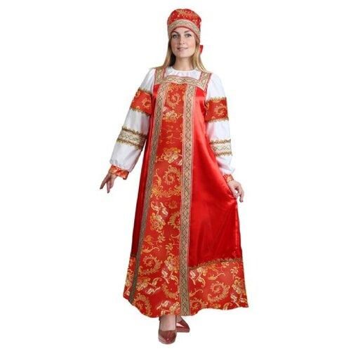 Костюм русский народный Золотые узоры взрослый Сималенд 52 (платье, сорока)