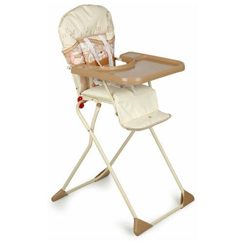 стул для кормления globex космик new белый Стул для кормления Globex Компакт коллекция Мишки, бежевый