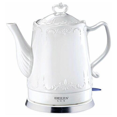 Чайник DELTA LUX DL-1236, белый