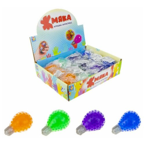 Фото - Игрушка-антистресс 1toy Мелкие пакости, жмяка Лампочка 7см арт.Т12451 3 шт. развивающие игрушки 1 toy мелкие пакости лизун шлепок нога