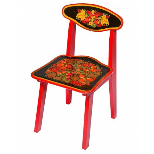 Купить Детский стульчик Хохлома с росписью ягода/цветок рост 2, Хохломская роспись, Стулья и табуреты